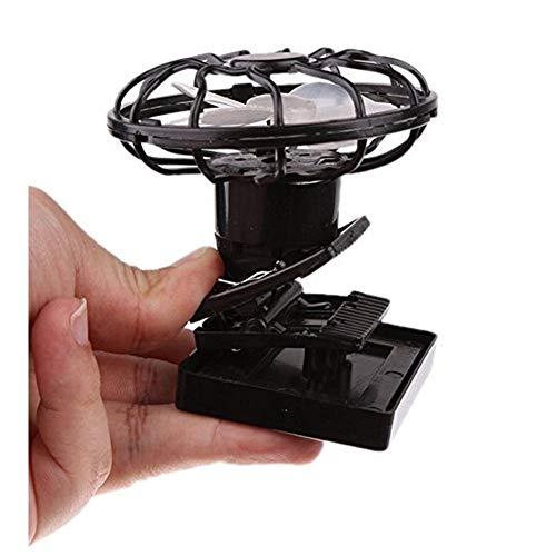 ZedTGHEU Solarbetriebener Clip Ventilator tragbarer Mini Heizkörper Sonne kann in Hut gesteckt werden, persönlicher Sommer Sport Outdoor schwarz