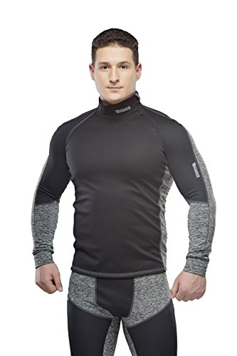 Performance Thermal-unterwäsche (Starks Herren Warm Long Shirt WS Stop Bacteria Windstopper Thermoclothes, Schwarz, L)