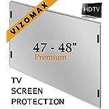 """47-48"""" Vizomax protecteur d'écran pour télévision TV LCD, LED, Plasma HDTV Screen Protector Cover Guard Shield"""