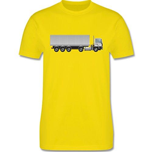Andere Fahrzeuge - Sattelzug Container Sattel 40 Tonner - Herren Premium T-Shirt Lemon Gelb