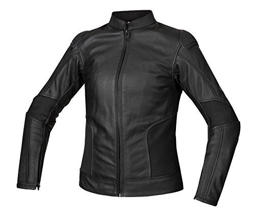 Bohmberg®, giacca di pelle da donna per motocicletta, 100% vera pelle, con protezioni rimovibili