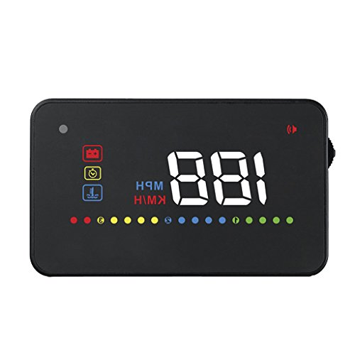 MagiDeal OBD2 Digital Auto 3.5 Zoll HD Hud Head Up Display Geschwindigkeitsmesser Multifunkitions Alarmsystem
