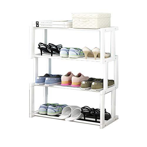 Multifonctionnel rack de chaussure multi-LayerSolid étagère en bois de stockage de chaussures simples de la poussière-Proof rack rack,White