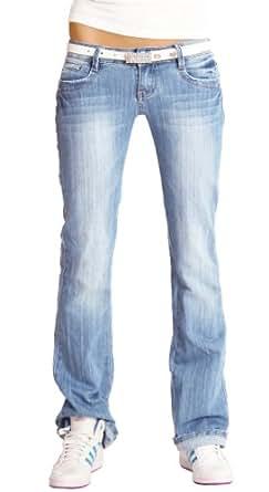 bestyledberlin - Jeans -  - Relax Femme Bleu Bleu -  Bleu - Bleu - 4