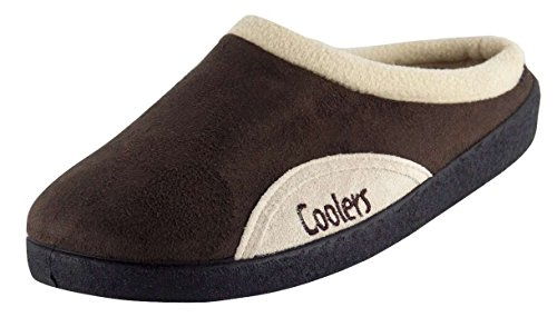 Mens Coolers Brand Microsuede Slip On Mule Clog Slipper 361 UK 11 Brown
