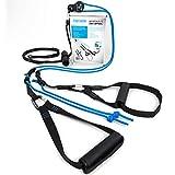 aeroSling Elite Set Basic | Umlenkrollen Schlingentrainer mit Wand- und Deckenhalterung aus Edelstahl | Flexibler Sling Trainer für zuhause und draußen | Inkl. Online Fitness DVD mit Trainingsplänen
