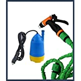 Aksh's Portable Home And Car Electric Pressure Washer With Water Gun + 10m Special Hose Pipe + Submersible Pumps (car Washer)