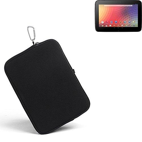 K-S-Trade® für Samsung Google Nexus 10 Neopren Hülle Schutzhülle Neoprenhülle Tablethülle Tabletcase Tablet Schutz Gürtel Tasche Case Sleeve Business schwarz für Samsung Google Nexus 10