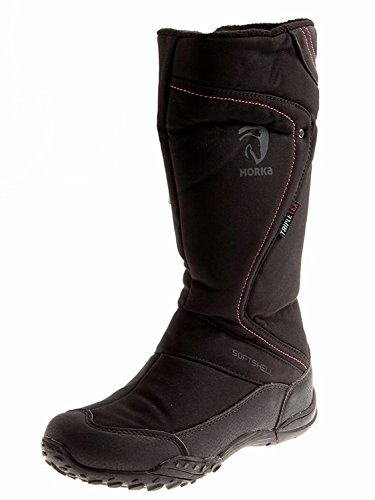 Horka Thermo Stiefel Fleece-Futter Wasserdicht Tex schwarz Clare 146203 EU 38 (Damen Fleece Stiefel)