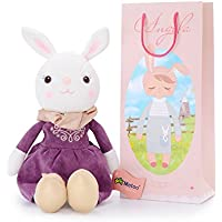 Me Too Stuffed Bunny/Easter Bunny/Rabbit Dolls - Plush Tiramitu Rabbit Toys with Gift Bag (12 inches) - Girls Gifts By Metoo