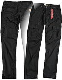 Alpha Industries Agent Pant Cargohose,eine robuste Hose mit flachen Beintaschen mit Abdeckklappen und Druckknöpfen aus Baumwolle