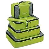Gonex Kleidertaschen-Set, 5-teilig, je 1 Beutel, Kleine, mittelgroße, große und größere Packtasche, grün