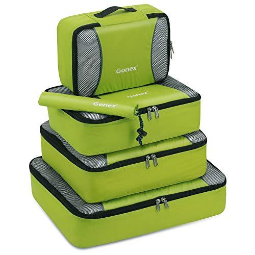 Gonex Organisateurs de bagage Sacs rangement de valise Voyage 5 pcs Vert