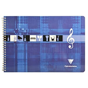 Clairefontaine Music Exercise Book Horizontal Random Colour