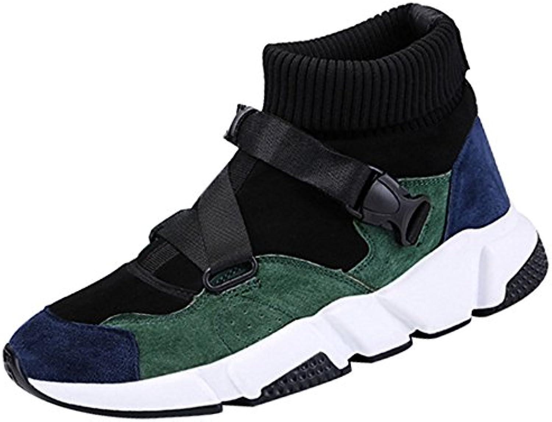 Personalidad De La Moda Para Hombres Zapatos Casuales High Help Student Board Shoes