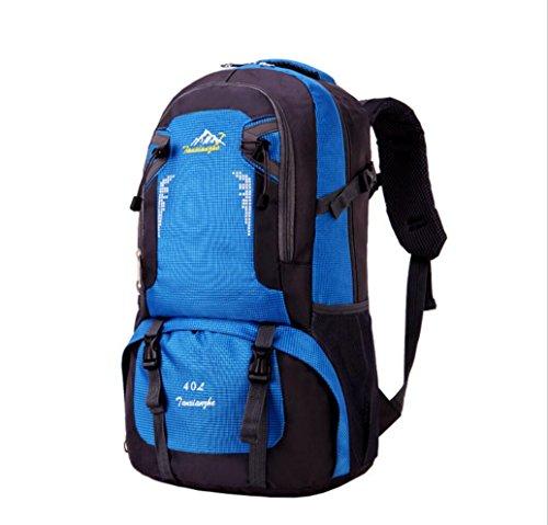 LQABW Nuovo Di Alta Capacità Di Svago Selvaggio Arrampicata All'aperto Borsa Multi-colore Del Panno Opzionale Impermeabile Resistente Allo Strappo Alpinismo Bag Oxford 40L Durable,Blue Blue