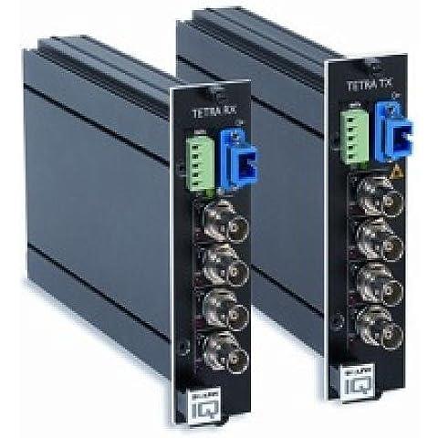 tetra4210rxsa siqura, Digital de 4canales–Fibra Óptica vídeo–Multiplexer–Receptor para 4señales y 1vollduplex RS-485/422Interfaz través 1fibra multimodek Abel 62,5(50)/125µm
