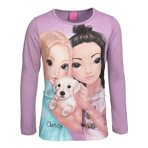 Top Model Mädchen Langarm Shirt Christy & Nyela 85031 Violett (164)