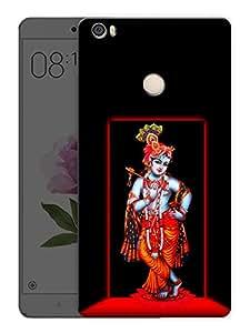 "Ulta Anda Lord Krishna - Indian Hindu God Printed Designer Mobile Back Cover For ""Xiaomi Redmi Max"" (3D, Matte Finish, Premium Quality, Protective Snap On Slim Hard Phone Case, Multi Color)"