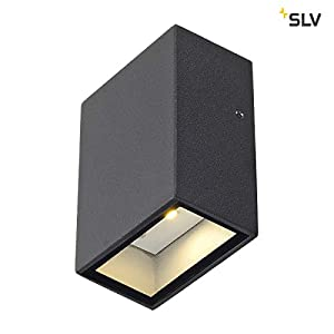 SLV 232465 QUAD 1 wall lamp, square, anthrazit, LED, 1x3W, warm-white