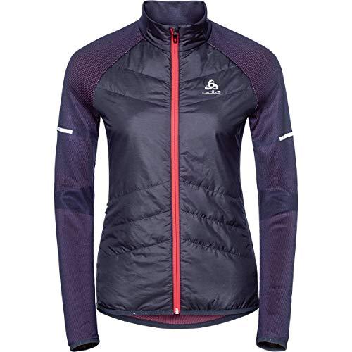 Nordic Womens Jacket (Odlo Irbis Hybrid Jacket Women - Odyssey Gray/Diva pink)