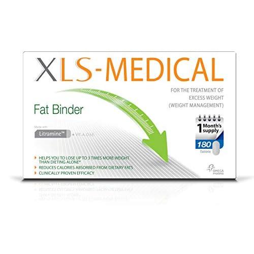 41IkPyGxlmL. SS500  - XLS Medical Fat Binder Tablets Weight Loss Aid, 180 Tablets