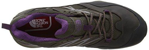 The North Face T0cdf4aux, Chaussures de Randonnée à Tige Basse Femme Multicolore (Weimaraner Brown/Black Currant Purple Aux)