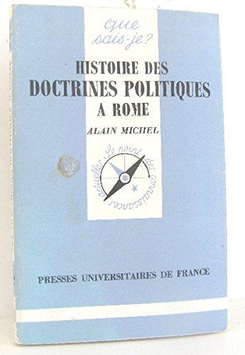 Histoire des doctrines politiques à Rome