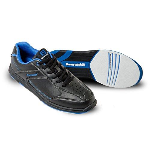Herren Bowlingschuhe Brunswick Flyer schwarz/blau