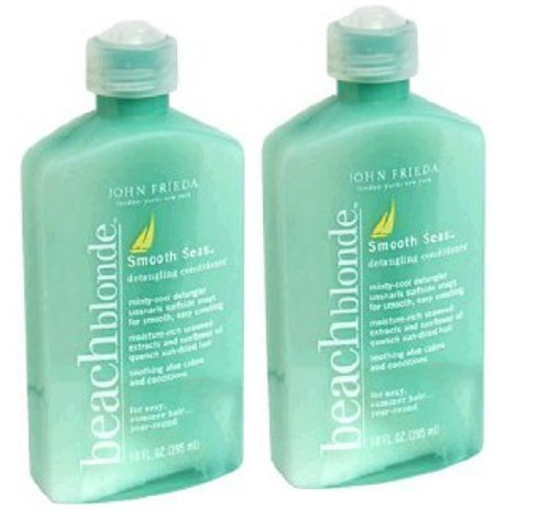 John Frieda - Lot de 2 après-shampooing Smooth Seas blond d'été 2x295ml