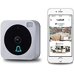 Netvue Timbre a Control Remoto Inalámbrico, Con Vídeo y WiFi, Inteligente, Electrónico, Imagen de Vídeo HD 720p (Doorbell001)