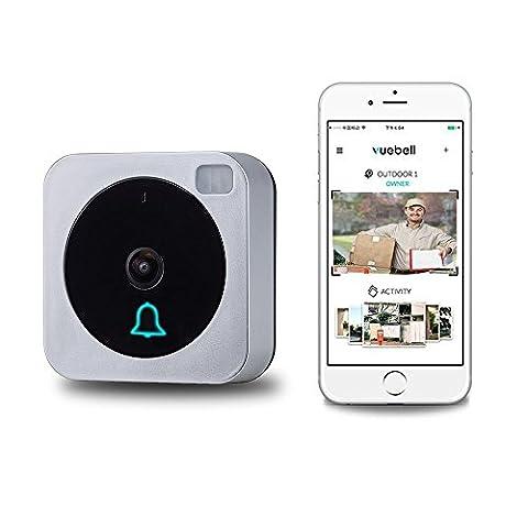 Sans fil WiFi vidéo Sonnette de porte Smart télécommande électronique visible vidéo HD 720p Photo Vidéo Wi-Fi Sonnette