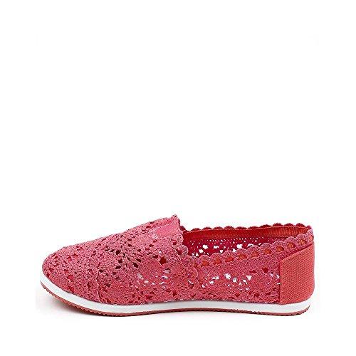 Ideal Shoes, Damen Slipper & Mokassins Rot
