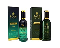 COMBO PACK OF FOGG INTENSIO PERFUME 90 ML + FOGG I AM QUEEN PERFUME FOR WOMEN 90 ML