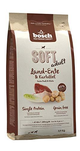 bosch HPC SOFT Land-Ente & Kartoffel | halbfeuchtes  Hundefutter für ausgewachsene Hunde aller Rassen | Single Protein | Grain Free, 1 x 1 kg