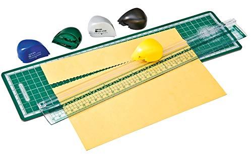 VBS Papier Schneidegerät Schneidemaschine Konturren 5 Schneidköpfen Cuttermatte