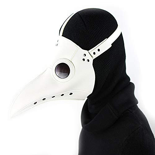 LJJTDS Halloween Maske Punk Pest Schnabel Doktor Maske Prom Festival Partei Liefert Cosplay Requisiten,White