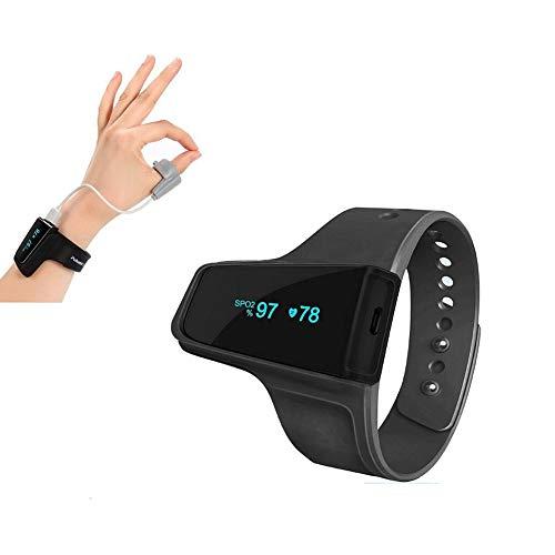 Alerta De Vibración del Monitor De Oxígeno del Sueño, para Ronquidos Y Apnea del Sueño, Seguimiento del Oxímetro De Pulso De Muñeca Bluetooth Nivel De Saturación De Oxígeno Durante La Noche