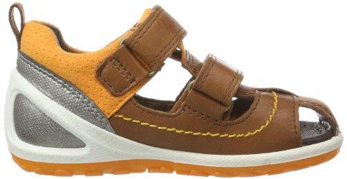 Ecco Lite Infants Sandal Marine/meadow Fir/te, chaussures premiers pas mixte enfant Marron - Braun (MAHOGANY/SPICE 58298)