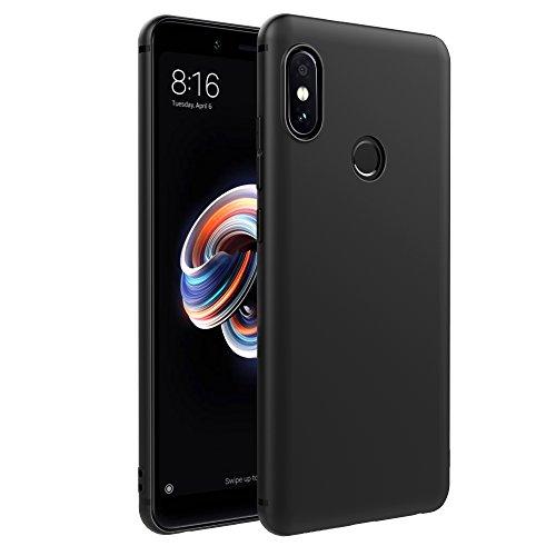 EasyAcc Xiaomi Redmi Note 5/Redmi Note 5 Pro Hülle Case, Schwarz TPU Telefonhülle Matte Oberfläche Handyhülle Schutzhülle Schmaler Telefonschutz für Das Xiaomi Redmi Note 5/Redmi Note 5 Pro 5.99