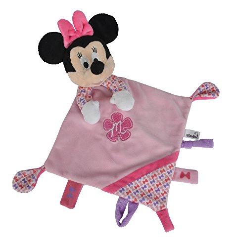 Simba 6315874817 - Disney Minnie Maus, 3D Schmusetuch, rosa (Disney Baby Minnie Maus)