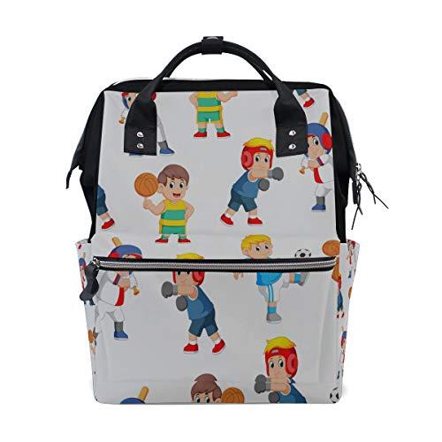 Sport Junge Coole Outdoor Acitive Große Kapazität Windel Taschen Mummy Rucksack Multi Funktionen Wickeltasche Tasche Handtasche Für Kinder Babypflege Reise Täglichen Frauen (Sports Mama Kostüm)