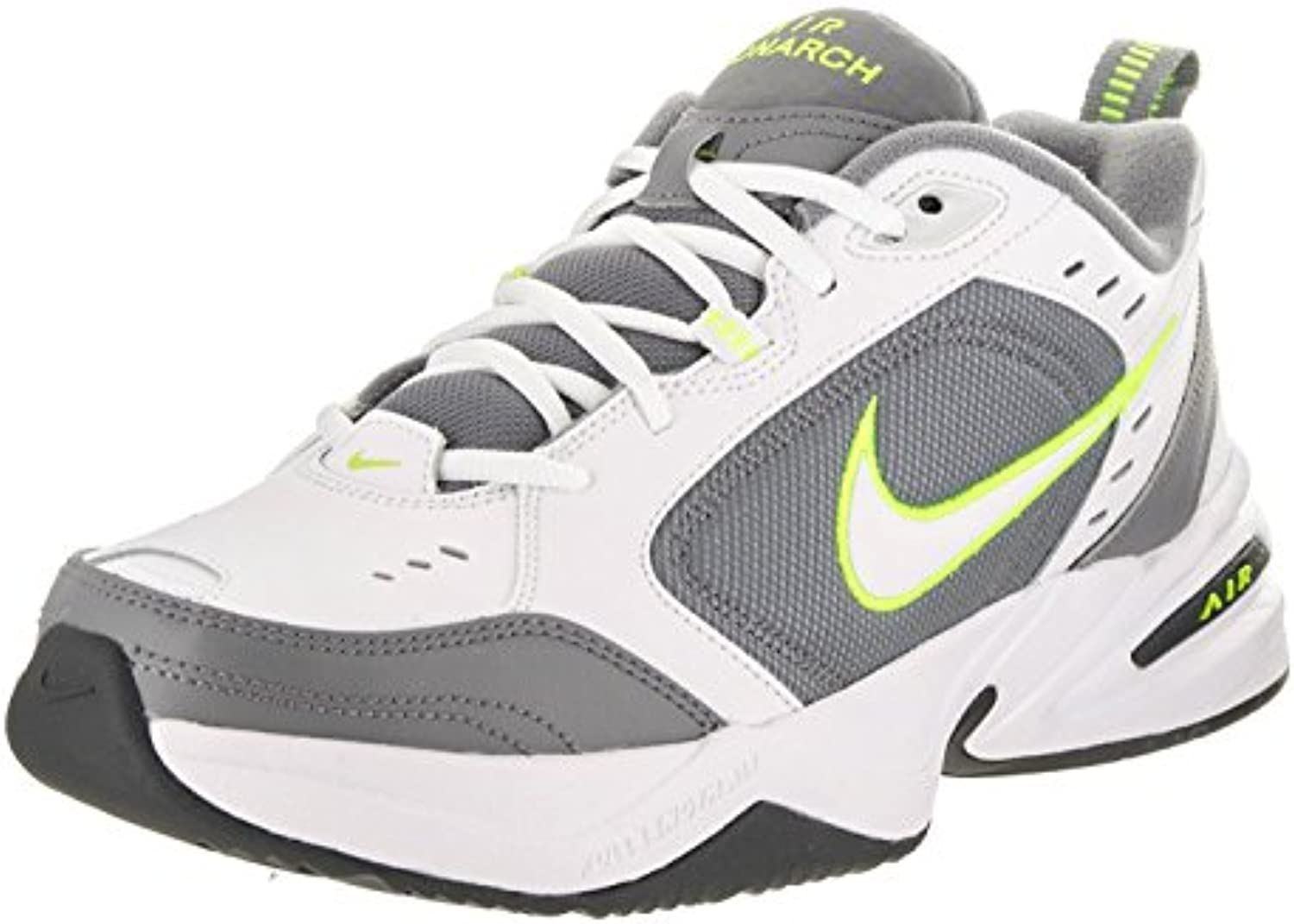 Nike Men'S Air Monarch IV Training Shoe, White/Cool Grey/Anthracite/Volt, 42.5 D(M) EU/8 D(M) UK