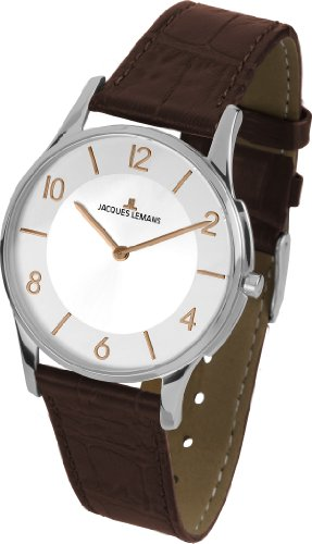 Jacques Lemans Unisex Watch London 1–1778L Analogue Display and Gold Leather