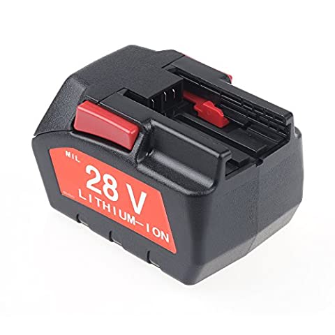 Vinteky® 28V 3000mAh Li-ion Batterie d'Outil Remplacement Pour 48-11-1830,48-11-2850,48-11-2830,0700956730 pour Milwaukee V28 Sawzall Reciprocating Saw Kit - 0719-22/0721-21 Milwaukee 4933416345 C 12-28 DCR/ 0-Version