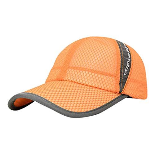 EUCoo_hat Sportkappen-Art und Weise des Sommers im Freien Breathable trockener Ineinander greifen Baseball Kappen Sonnenhut(Gelb) - Toyo Hat
