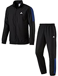 59b9064068f5 adidas Tentro Woven Black Blue Full Zip Windstopper Tracksuit Jacket
