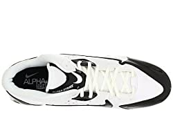 Mens Nike Alpha Strike 3/4 TD Football Cleat White/Black/White Size 9. 5 M US