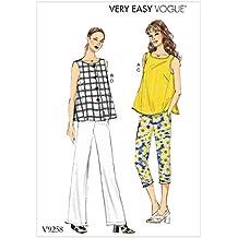 Vogue Patrones de Costura para Camisetas y Pantalones,, tamaños 8 – 16