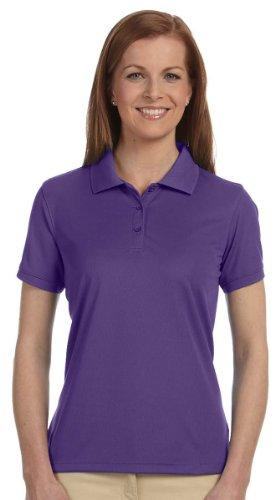 Donna dri-fasttm advantagetm Solid maglia polo, colore bianco, S Team Purple